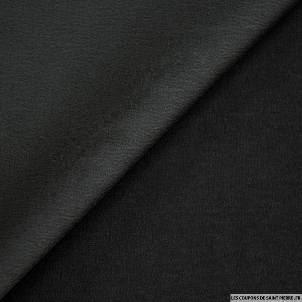Crêpe polyester envers satin noir