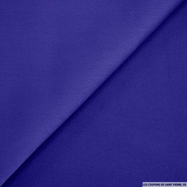 Crêpe polyester envers satin bleu roi