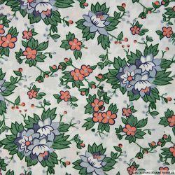 tissu coton imprim fleurs coupons de saint pierre. Black Bedroom Furniture Sets. Home Design Ideas