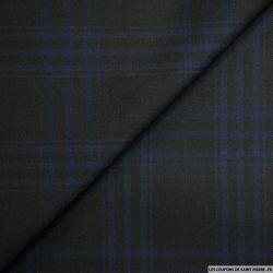 Polyviscose carreaux noir et bleu
