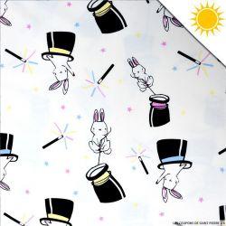 Jersey de coton couleur magique lapin vendu au mètre