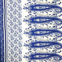 Viscose imprimé tie and die bleu cachemire bleu