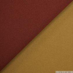 Crêpe acétate polyester contrecollé marron et camel