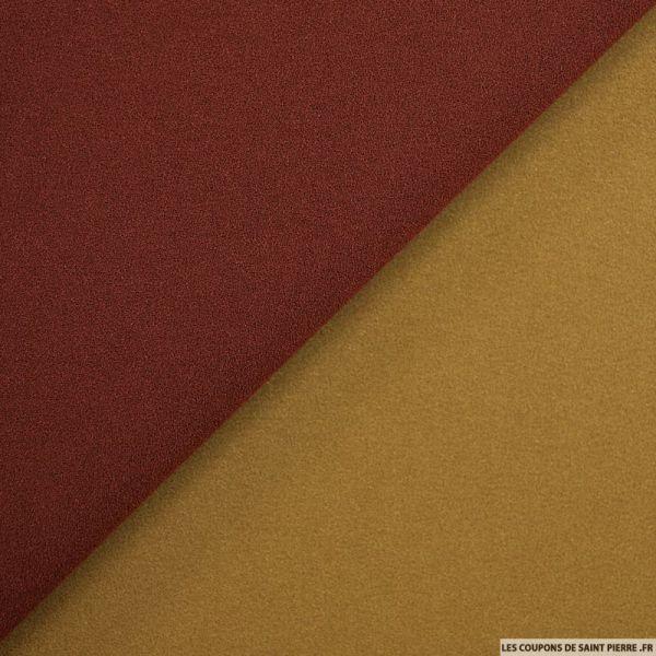 Sergé de coton et soie marron