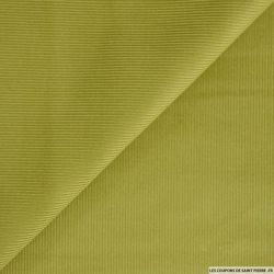 Velours côtelé vert