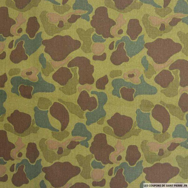 Gabardine de coton Camouflage Flecktarn