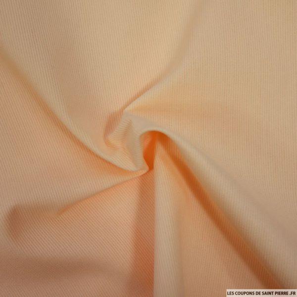 Tissu Piqué de coton milleraies uni paille