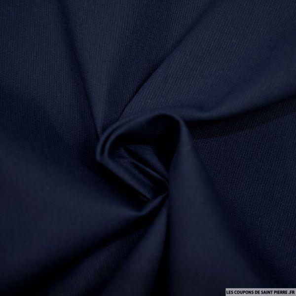 Tissu Piqué de coton milleraies uni marine