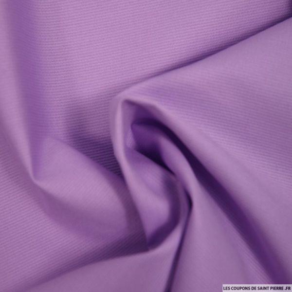 Tissu Piqué de coton milleraies uni parme