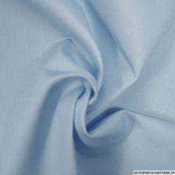Tissus Piqué de coton milleraies uni bleu ciel