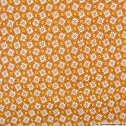 Polycoton imprimé mosaique marron