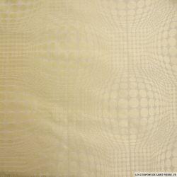 Jacquard de soie illusion d'optique jaune