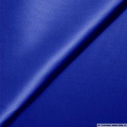 Satin de Soie élasthane bleu roi