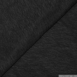 Maille 100% lin noir