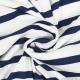 Jersey polyviscose marinière blanc et marine