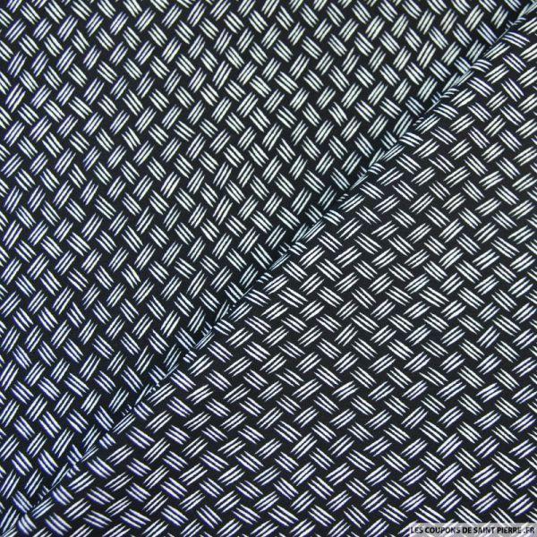 Tissu microfibre imprimé griffé noir et blanc
