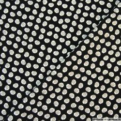 Tissu microfibre imprimé roses fond noir
