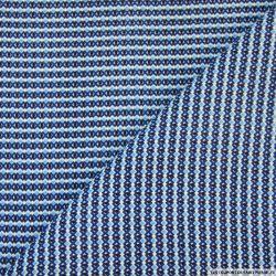 Tissu microfibre imprimé mini losanges fond bleu