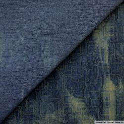 Jean's elasthane imprimé carré delavé