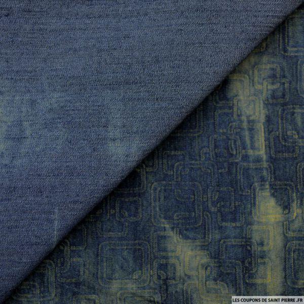 Jean's elasthanne imprimé carré delavé