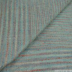 Bourrette de soie fluide bleu et brique