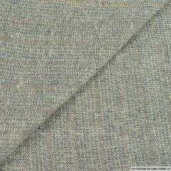 Bourette de soie gris et bleu