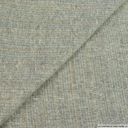 Bourrette de soie beige et gris bleuté