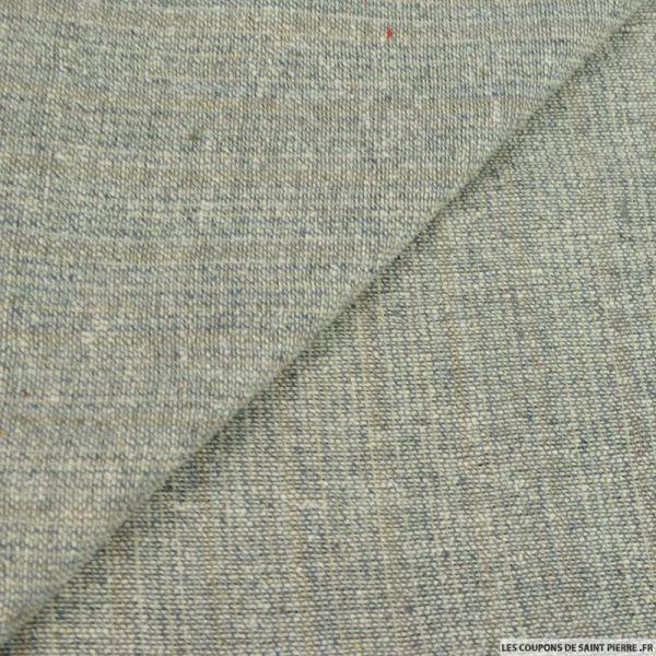 Bourrette de soie beige et gris