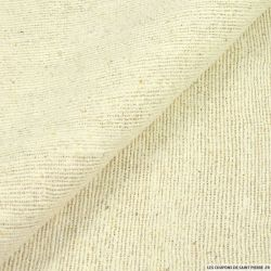 Bourrette de soie à carreaux marron glacé et écru
