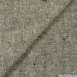 Bourrette de soie beige et gris anthracite