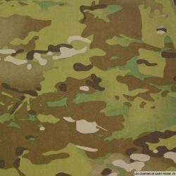 Gabardine de coton imprimée Camouflage Multicam