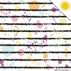 Jersey de coton couleur magique rayures vendu au mètre