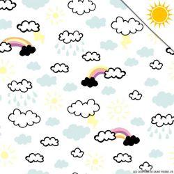 Jersey de coton couleur magique nuage vendu au mètre