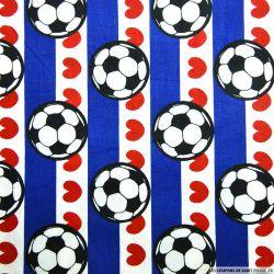 Coton imprimé football coup de coeur