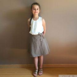 Patron fillette Modes & Travaux N° 416.594 -  Jupe portefeuille