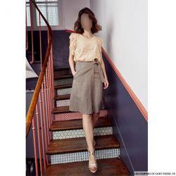 Patron femme Modes & Travaux - Robe bouton d'or