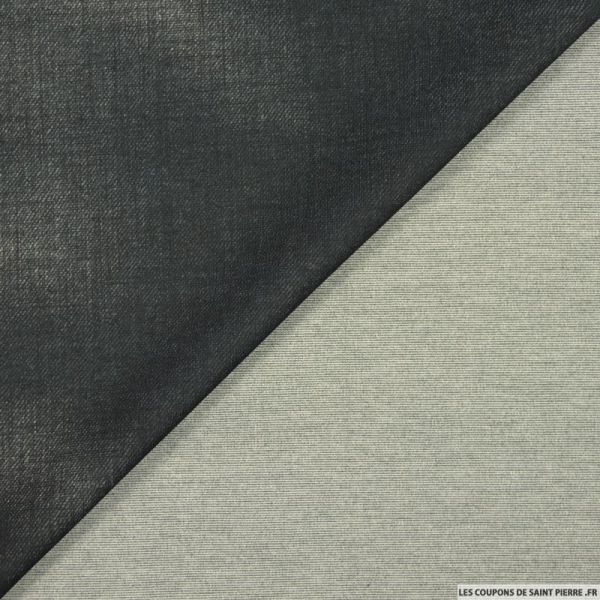 Maille Milano aspect denim noir