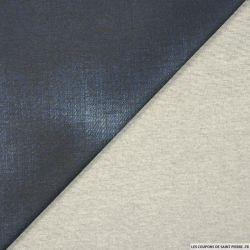 Maille Milano aspect denim bleu
