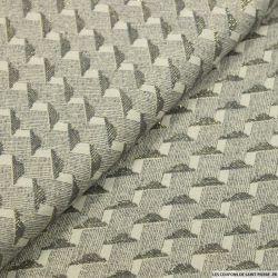 Jacquard de coton lamé or géométrique