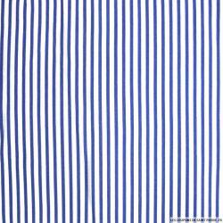 Viscose rayures fines bleu
