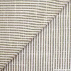 Coton chemise fines rayures beige