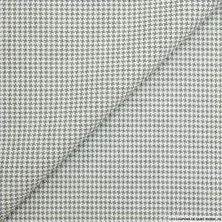 Coton chemise pied de poule gris
