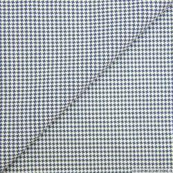 Coton chemise pied de poule marine