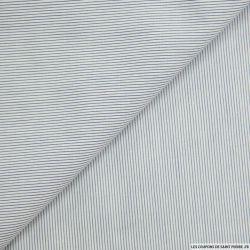Coton chemise fines rayures marine et blanc