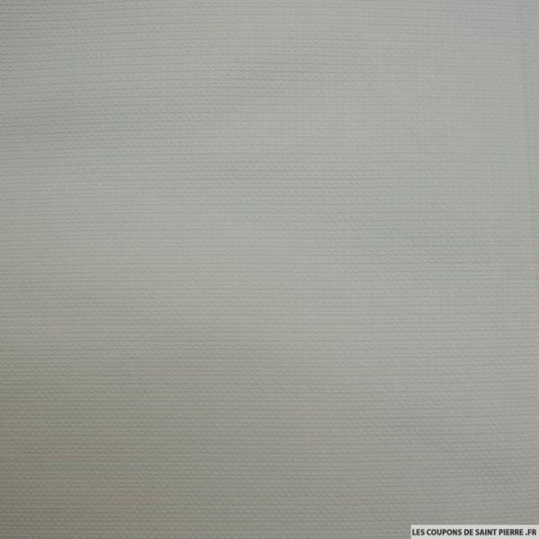 Piqué de coton torsadé blanc