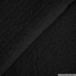 Coton aspect matelassé noir