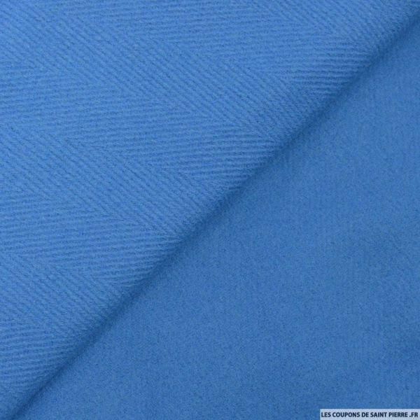 Chevron de laine bleu
