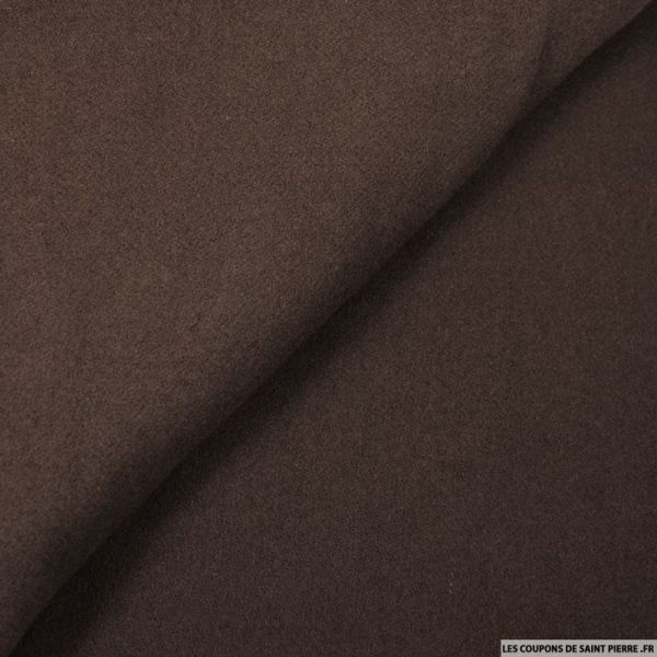 Velours de laine marron