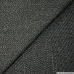 Gabardine de laine chevron gris