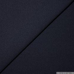 Crêpe de laine bleu marine